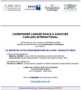 Invitation - Petit déjeuner-débat du 14 février